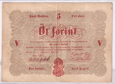 5 Forint 1848 (oranžový) - série QÜe. - chybotisk na rubové straně