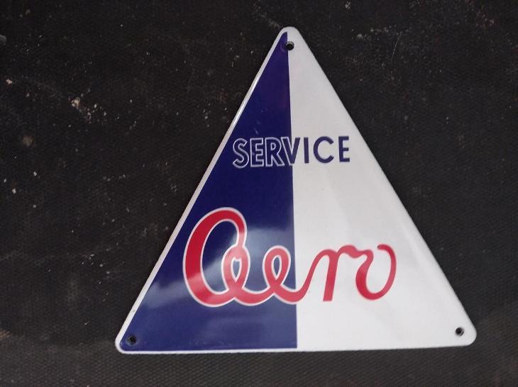 Smaltovaná cedulka AERO  SERICE nepoužívaná - Motoristické předměty