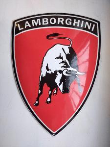 Smaltovaná cedulka LAMBORGHINI nepoužívaná jiné zajímavosti auto START