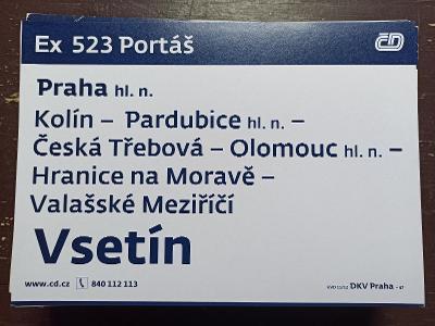 Směrová cedule Ex 523/R 624 PORTÁŠ