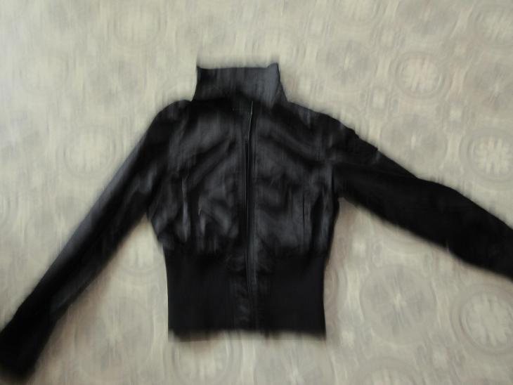 bunda černá slabá - Dámské oblečení
