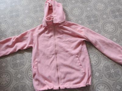 bunda  ružová flauš