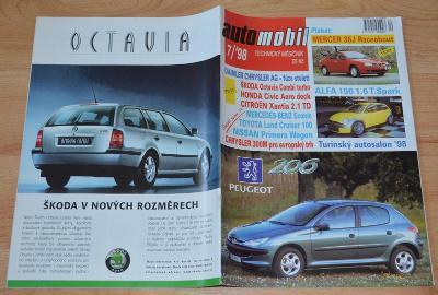 ŠKODA OCTAVIA / MERCER / MV AGUSTA / TATRA - ČASOPIS AUTOMOBIL 7/1998