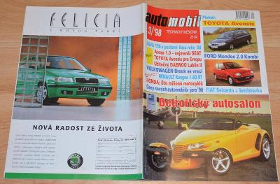 ŠKODA FELICIA / ŠKODA SUPERSALITA / AERO 30 - ČASOPIS AUTOMOBIL 3/1998