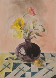 Zátiší s květinou, Jan Tesař