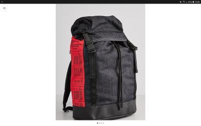 Nejen pánský luxusní batoh, sport, cestovní batoh Diesel Black Jeans