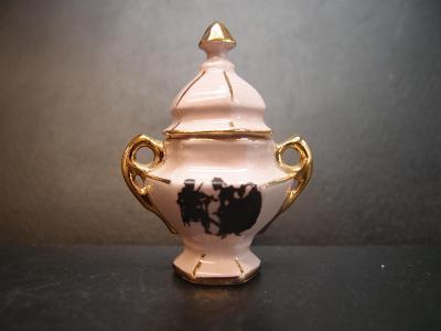 minicukřenka 1 růžový porcelán vzor rokoko
