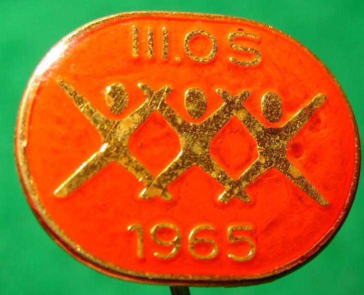 odznak III. okresní spartakiáda 1965/3U - Faleristika