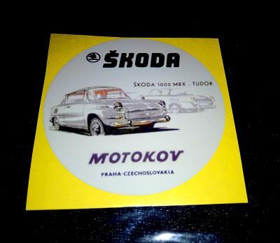 ŠKODA 1000 MBX TUDOR - (samolepka pr.7) dle foto (1x).