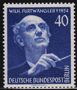 Západní Berlín 1955 Wilhelm Furtwängler, dirigent Mi# 128 Kat 25€ 0147