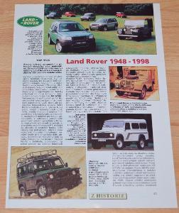 LAND ROVER 1948 - 1998 - DOBOVÝ ČLÁNEK Z ČASOPISU