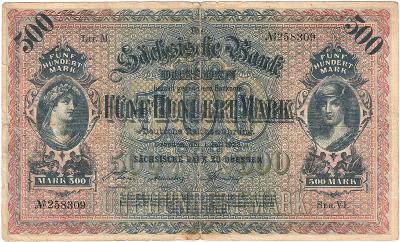 500 MARK, 1922, série VI, velká bankovka, krásný stav 2 !!!