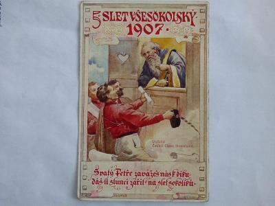 Slet sokolů 1907, mf, neprošlá