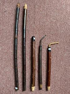 Troubel k fajfce, délka 23-47 cm, cena za 1 ks, v dobrém stavu