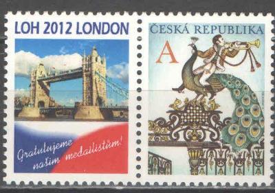 ** ČESKO č.702 privátní kupón LOH Londýn 2012