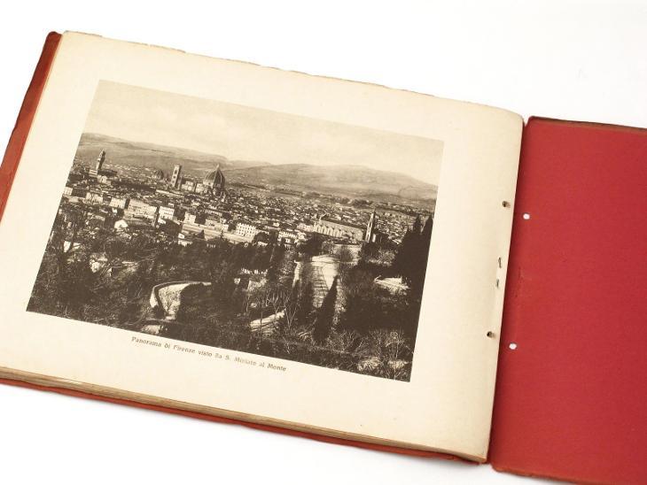 #3015 Firenze 40 vedute historické obrazy Florencie  - Antikvariát