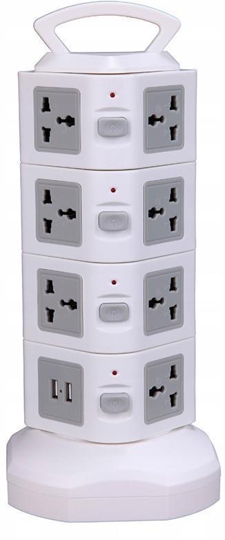 Věžový pás 15 zásuvek 230 V MAXLED SMART USB