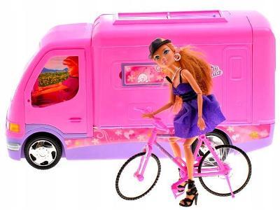 Pink CAR pro Camper panenku + kolo ZA0164 Akce!