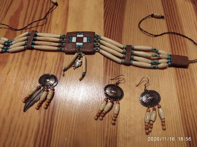 Originální Indianské šperky - ruční výroba koupeno v rezervaci v USA