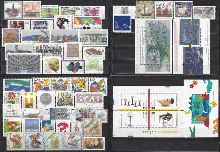 Německo 1998 Kompletní ročník Mi# 1965-2026 Kat 122.20€ - Filatelie
