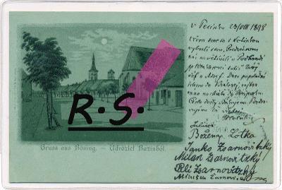 Pezinok , Bösing , Bazin 1898 , /3939/