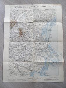 MAPA - ITÁLIE, 51,5 x 39 cm, okolo roku 1900, viz foto.
