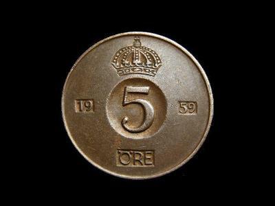 Švédsko - 5 Öre 1959