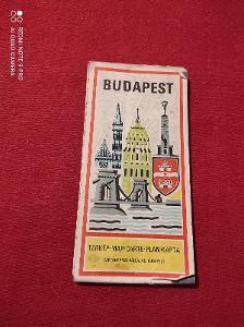 Stará cestovní mapa Budapešť