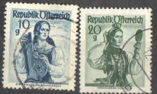 Rakousko - Mi.895,897- Lidové kroje