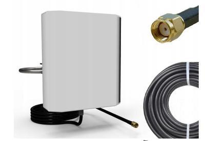 PANEL ANTENNA 12dBi 2,4 GHz + 10m + RP-SMA - WiFi