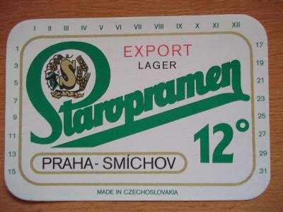 Pivní etiketa Praha - Smíchov NH9