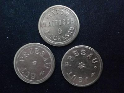 Chmelová známka 3ks varianty Anton Mattusch  Pschesau 8