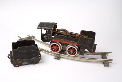 Starožitný vláček na klíček hračka na náhradní díly