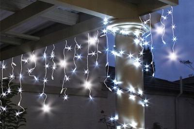 VÁNOČNÍ OSVĚTLENÍ 200 LED ZÁVĚS RAMPOUCHY světelný + blesk
