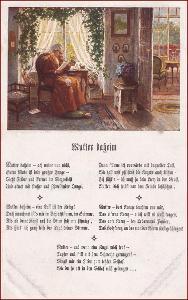 Žena * matka, babička, interiér domu, báseň, gratulační * M6780