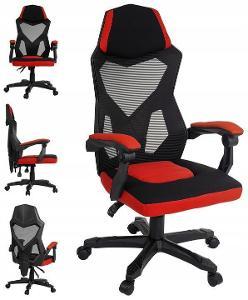 Herní židle Otočná herní kancelářská židle BLACK do kanceláře
