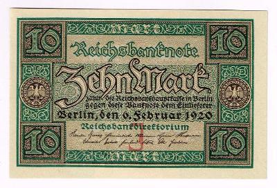 Německo 10 marek 1920