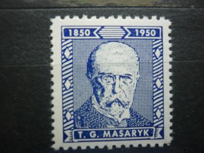 TGM MASARYK 1850 -  1950  - 100 LET OD NAROZENÍ TGM MASARYK BLAU**! R