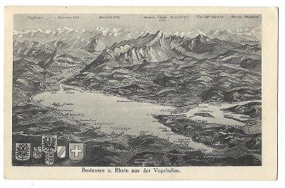 Pohlednice, Bodensee, Bodamské jezero, Německo, MF, 104/55