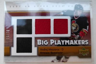 🏒 07-08 UD Upper Deck Big Playmakers Andrej MESZAROS /50 🏆