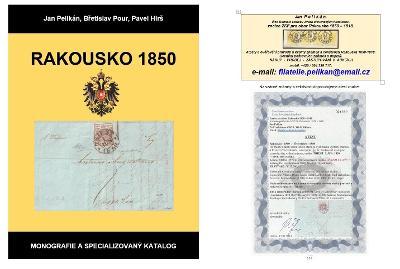 Nové vydání- Specializovaný katalog známek a celistvostí Rakousko 1850