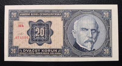 20 korun 1926 serie Hh,TOP stav UNC,nadherny,vyrazny hlubotisk