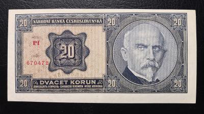 20 korun 1926 serie Pf ,TOP stav UNC,nadherny,vyrazny hlubotisk