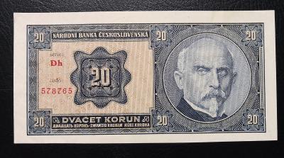 20 korun 1926 serie Dh ,TOP stav UNC,nadherny,vyrazny hlubotisk