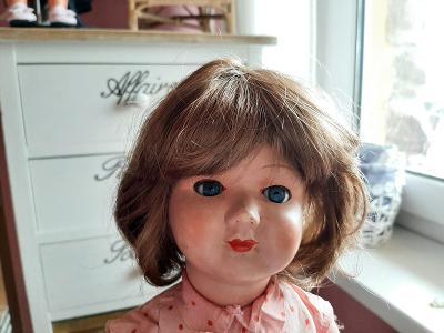 nová paruka na panenku - panenka 1.