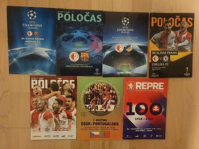 MIX fotbalových programů Slavia Praha + reprezentace