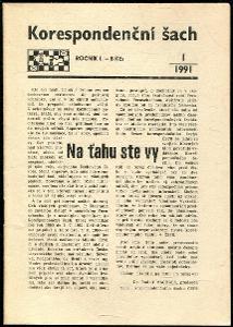 časopis Korespondenční šach ročník I 1991 - 6 čísel