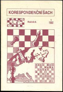 časopis Korespondenční šach ročník II 1992 - 6 čísel