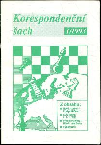 časopis Korespondenční šach ročník III 1993 - 6 čísel