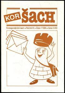 časopis Korespondenční šach ročník IV 1994 - 6 čísel